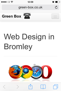 local business website in mobile phone