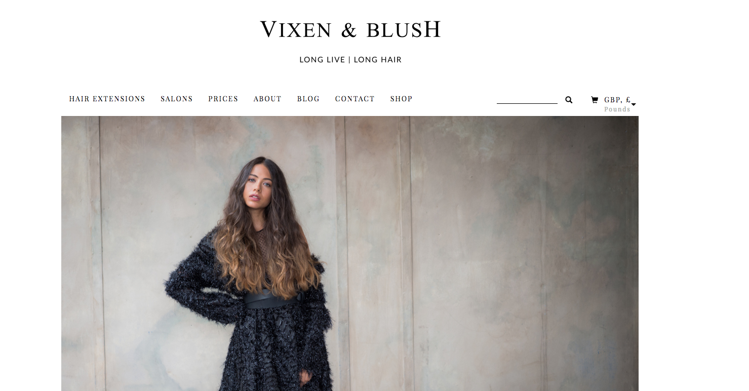 Vixen and blush of london luxury hair extensions wordpress vixen and blush needed a new ecommerce website to enable them to sell their luxury hair extensions online they required a custom website with branding and pmusecretfo Choice Image