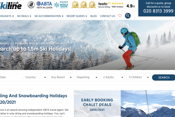 Ski holiday search engine
